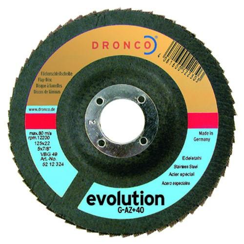Fächerschleifscheibe |  Typ. G-AZ+ 125 mm K80 Edelstahl / Stahl / Evolution