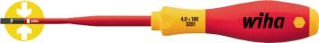 Schraubendreher VDE | Schlitz SW 3,5x100mm Ges.-L.204mm m.Mehrkomp.-Griff SoftFi. slimFix m.Größenleit.