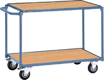 Tischwagen 2 Ladeflächen   Schiebebügel waagerecht PROMAT Trgf.250kg L850xB500mm Etagenhöhen 200/820mm
