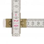 STABILA Holz-Gliedermaßstab Type 1607, 2 m, weiße metrische Skala