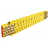 STABILA Holz-Gliedermaßstab Type 907, 2 m, gelbe metrische Skala