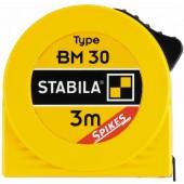 STABILA Taschenbandmaß BM 30, 8 m / 27 ft, mit Spikes-Haken