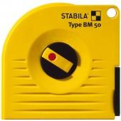 STABILA Kapselbandmaß BM 50 P, 20 m, polyamidbeschichtetes Stahl-Messband, mit Universalhaken