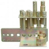 8teiliger Druckdornsatz mit Lochplatte bis max. 20 Tonnen