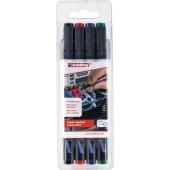 Kabelmarkerset | schwarz/rot/blau/grün Strichbreite 0,3 mm Rundspitze