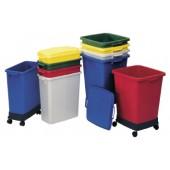 Abfall-/Wertstoffsammler | 90l grau Kunststoff L510xB485xH600mm