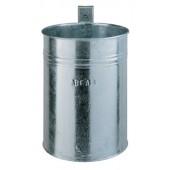 Abfallbehälter 35l verz. | geschl. H.425xD.330mm f.Wand/Pfosten
