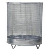 Abfallbehälter 75l | H.600xD.400mm verz. Drahtgitter m.4 Füßen