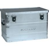 Aluminiumbox 70l | L595xB390xH380mm mit Klappverschlüsssen und Schlösser PROMAT