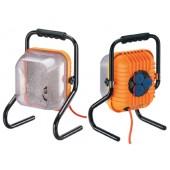 Arbeitsleuchte 200W | m.3Steckdosen H07RN-F3G BRENNENSTUHL Gummikabel-L.5m o.Leuchtmittel