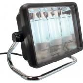 Arbeitsleuchte | 3x20 Watt 2Steckdosen Leuchtmittel getrennt sch Anschlusskabel 2 m H07RN-F 3x1,5mm IP44