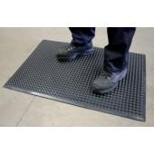 Arbeitsplatz-Bodenbelag | Polyurethan schwer ent- flammbar, schwarz, L600xB900mm