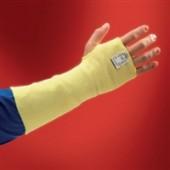 Armschützer Kevlar | Sleeves 70-110, EN388/407 Kat. II, L.254mm, gelb gestrickt m.Daumenloch
