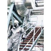 Einwegoverall | Gr. XL grau Tychem F Kat. III Typ 3, polymerbeschichtet