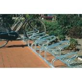 Fahrradbügelparker 3er | verz. 90 Grad Hoch-/Tiefstellung L.1050 mm 1-seitig