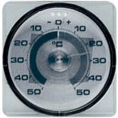 Fensterthermometer Ku. | .D.75mm m.Klebefläche f. alle Fenstertypen geeignet