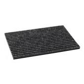 Fußmatte | Breitsrips grau 24mm Maßanfertigung Rippenlänge angeben Preis/m2