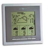Funkwetterstation | f.Innen/Außen satellitengestützt 4Tage Ku. silber-metallic/grau inkl. Batterien
