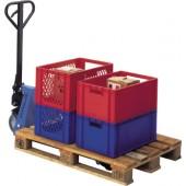 Gabelhubwagen PROMAT | Gabellänge 1150mm Tragfähigkeit 2500kg Polyurethan/Polyamid Tandem RAL 5014
