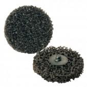 Grobreinigungsscheibe | D.51mm schwarz f.Rost/Lack z.Schnellwechselsystem