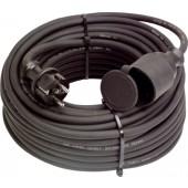 Gummiverlängerungskabel | H07RN-F3x1,5mm2 L.5m schwarz IP44 SIROX f.innen u.außen