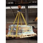Hebeband L.4m 2lagig | Band-B.60mm gestreckt 2000kg U-Lage 4000kg Schlaufen-L.300mm