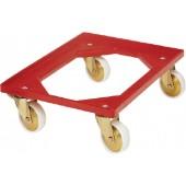 Kistenroller ABS-Ku. | Ladefläche L600x400mm offen rot Trgf.250kg lebensmittelecht