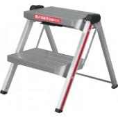 Klapptritt 2 Stufen | Arbeitshöhe ca. 1900mm Aluminium Gesamttragfähigkeit 150kg
