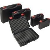 Kunststoffkoffer schwarz | L235xB185xH48mm mit Schaumstoffeinlage PP