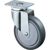 Doppel-Lenkrolle | Durchmesser 100mm Tragfähigkeit 590kg Gusspolyurethanrad Platte 138x110mm