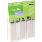 Pflasterstrips f.QuickFix | Inhalt 30St. 120x20mm PLUM elastisch Einzeleinsatz + Refill