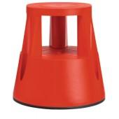 Rollhocker Ku. rot | Trgf.150kg H.410mmxD.oben/unten 283/433mm