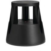 Rollhocker Ku. schwarz | Trgf.150kg H.410mmxD.oben/unten 283/433mm