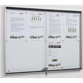 Schaukasten m.ESG-Glas- | schiebetür, 8xDIN A4 B920xH674xT30mm Ecken abgerundet