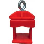 Schilderklemme | Kunststoff rot für Rundrohr 42 mm und Vi