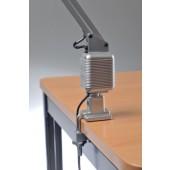 Schreibtischleuchte | Ku. silber m.Standfuß u.Tischklemme m.Leuchtmittel Ausladung max.820mm