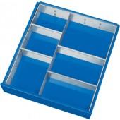 Schubladen- | Unterteilungsmaterial f. Fronthöhe 120/150mm 1 Trennwand  4 Steckwände PROMAT BK 650