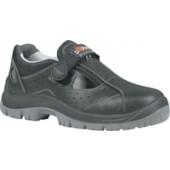 Sicherheits-Sandale | EN20345 S1P SRC Alligator schwarz, Gr. 40 Rindleder,Wing Tex Futter Stahlkappe/-sohle