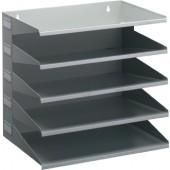 Sortierstation | 5 Fächer DIN A4 H330xB360xT250mm Metall lichtgrau