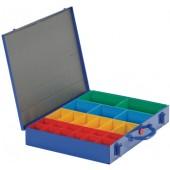 Sortimentskasten a.Blech | 23lose Einsätze rot/gelb/blau/grün 440x330x66mm