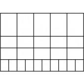 Sortimentskasten | B.415xT.330xH.57mm 25Fächer/3versch.Gr. Unterteil PP/Deckel a.PC