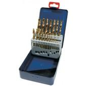 Spiralbohrersatz | DIN338 Typ N D.1-5,9mm 0,1mm stgd. HSS TiN 50tlg.Metallkassette
