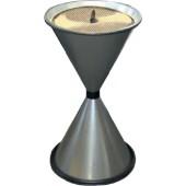 Standascher anthrazit | aus Stahlblech mit Einlegesieb Metall H770xD.405mm