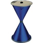 Standascher blau | aus Stahlblech mit Einlegesieb Metall H770xD.405mm