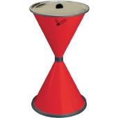 Standascher rot | aus Stahlblech mit Einlegesieb Metall H770xD.405mm