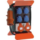 Standstromverteiler 16A | 400V 5polig H07RN-F5 G 2,5mm2 z.Verwendung i.Innen-/Außenbereich IP44 mit FI-Schalter