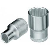 Steckschlüsseleinsatz | 1/2Zoll SW 19mm UD-Profil D 19 DIN3124 ISO2725-1 verchromt Chrom Vanadium Stahl