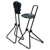 Stehhilfe Gestell schwarz | klappbar PU-Schaum Sitzhöhe 650-850mm