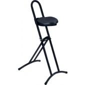 Stehhilfe | Gestell u. Sitz schwarz Raster-Höhenverstellung 610-860mm