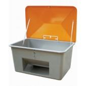 Streugutbehälter 200l | o.Entnahmeöffnung GFK L890xB590xH670mm Behälter grau/Deckel orange
